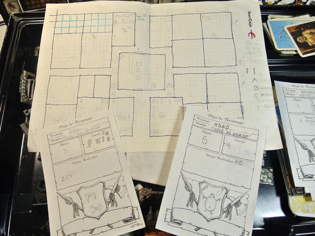 Fichas y mapa del Heroquest