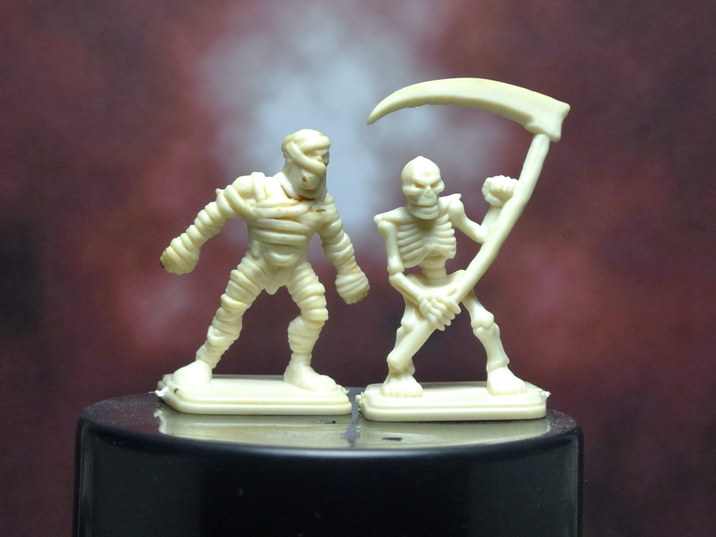 Esqueleto y momia de Heroquest