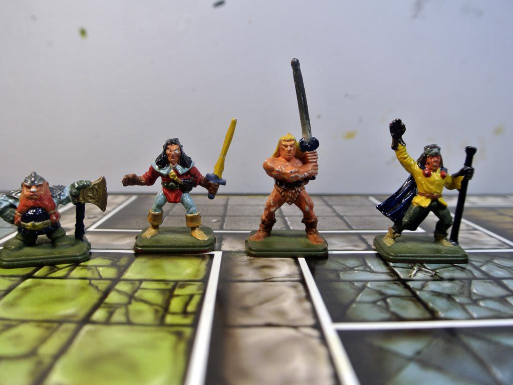 Héroes de Heroquest pintados