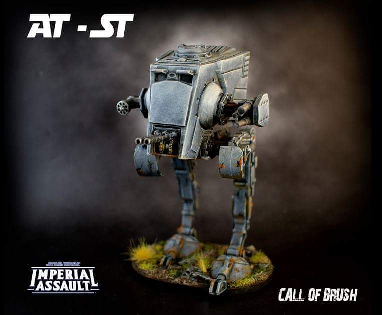 AT-ST del juego Imperial Assault