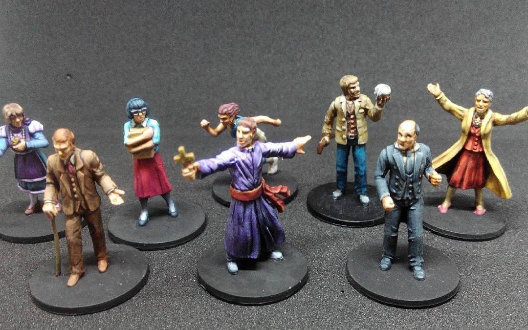 Terminados todos los investigadores de las mansiones de la locura 2. Pintado rápido para poder jugar como es debido