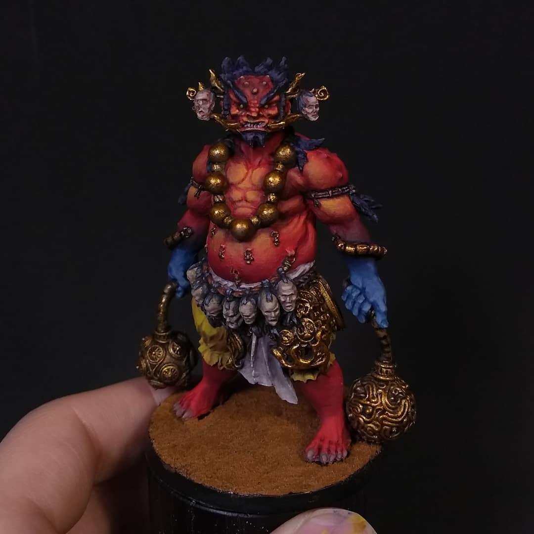 Oni of Blood casi terminado. Miniatura espectacular