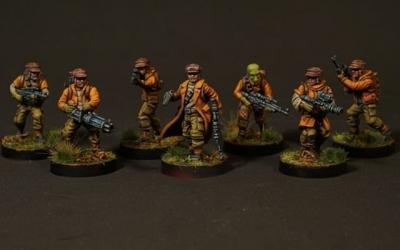 Primera unidad de rebeldes terminada para Star Wars Legion de @fantasyflightgames