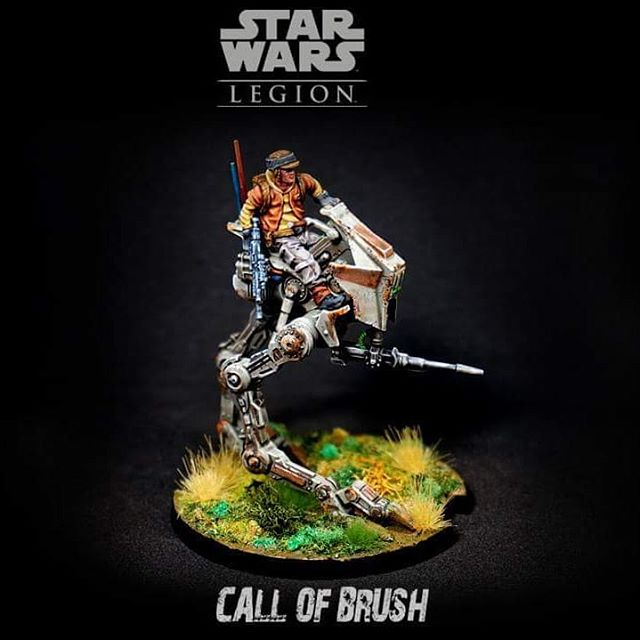 AT-RT de los rebeldes para el juego Star Wars Legion de @fantasyflightgames