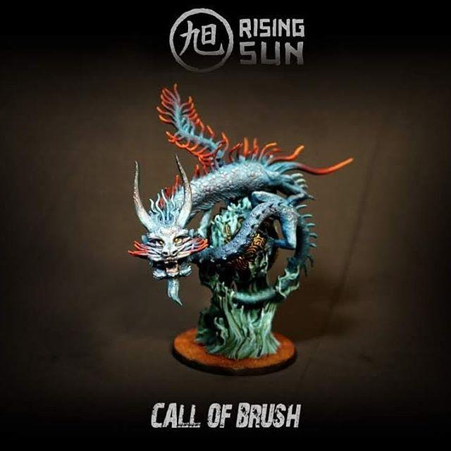 River Dragon del juego de mesa Rising Sun de @cmongames