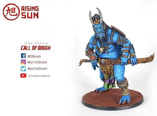 Oni of Skulls del juego de mesa Rising Sun